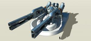 Dual Railgun Turret by freiheitskampfer