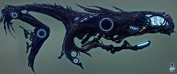 Evil Eldar/Alien Ship